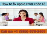 DIAL 888 678-5401 How to fix apple error code 43