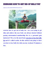 exercise how to get rid of belly fat-how to burn stomach fat-exercises to lose belly fat