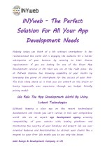 INYweb - The Perfect Solution For All Your App Development Needs