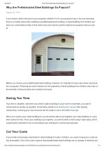 Why are prefabricated steel buildings so popular