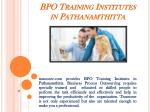 BPO Training Institutes in Pathanamthitta