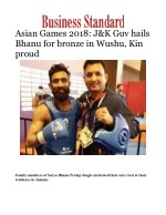 Asian Games 2018: J&K Guv hails Bhanu for bronze in Wushu, Kin proud