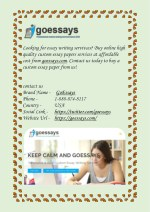 Buy Custom Essay Papers Online at Goessays.com