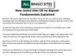 New casino sites UK no deposit Fundamentals Explained