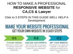 Create a Professional Responsive Chartered Accontant Website Development