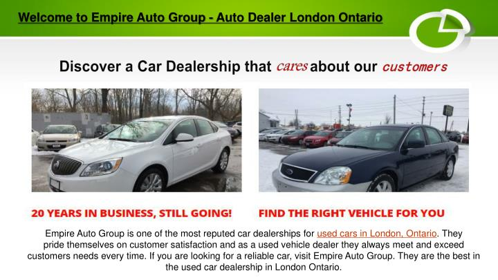 Used Car Dealers London >> Ppt Used Car Dealerships London Ontario Powerpoint Presentation