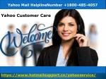 Yahoo Mail Live Support Number 1800-485-4057 yahoo phone Number