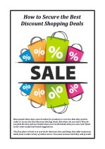 How to Secure the Best Discount Shopping Deals