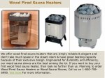 Reliable Wood Fired Sauna Heaters