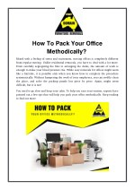 How To Pack Your Office Methodically?