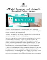 AP Digital - Technology which is integral to the Amistad Partners business