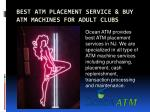Best ATM Placement Service & Buy ATM Machines for Adult Clubs