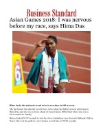Asian Games 2018: I was nervous before my race, says Hima Das