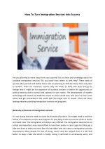 How To Turn Immigration Services Into Success