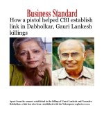 How a pistol helped CBI establish link in Dabholkar, Gauri Lankesh killings