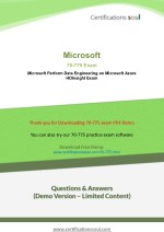 Microsoft 70-775 MCSE: Data Management and Analytics Practice Test