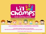 Li'l Champs - Early Learning Centre | Montessori Child Care Centre