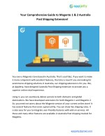 Your Comprehensive Guide to Magento 1 & 2 Australia Post Shipping Extension!