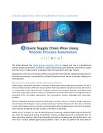3 Quick Supply Chain Wins Using Robotic Process Automation