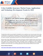 Cyber Liability Insurance Market Scope, Applications and Technology Development Trends by 2022