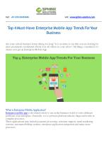 Top 4 Enterprise Mobile App Trends for Your Business