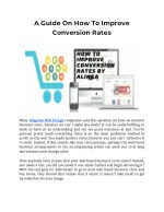 How To Improve Conversion Rates By Alinga