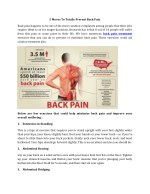 5 Moves To Totally Prevent Back Pain