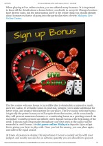 How to get Malaysia online casino sign up bonus