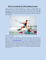 How To Get Ready For Kite Surfing Lessons?