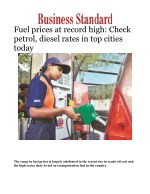 Fuel prices at record high: Check petrol, diesel rates in top cities today