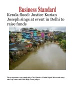 Kerala flood: Justice Kurian Joseph sings at event in Delhi to raise funds