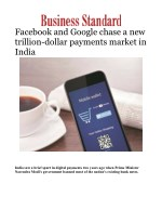 Facebook and Google chase a new trillion-dollar payments market in India