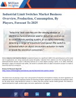Industrial Limit Switches Market 2025 - Global Market Growth, Trends, Share and Demands Research Report
