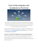 How Point of Sale Integration with QuickBooks? Why this we need? - PosTechie