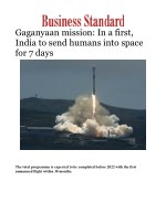 Gaganyaan mission: In a first, India to send humans into space for 7 days