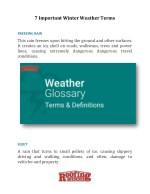 7 Important Winter Weather Terms | Roofing2000