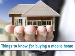 Things to Know for Buying a Mobile Home