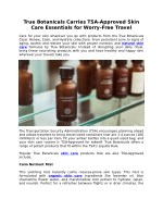 True Botanicals Carries TSA-Approved Skin Care Essentials for Worry-Free Travel
