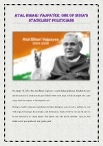 Atal Bihari Vajpayee: One of India's Stateliest Politicians