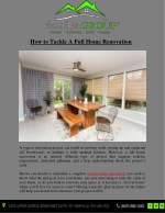How to Tackle A Full Home Renovation
