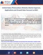 United States Photovoltaics Modules Market Segment, Applications and Growth Rate Forecast to 2025
