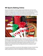 Nfl Sports Betting Online
