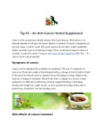 Tig-10 – An Anti-Cancer Herbal Supplement