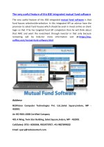 The very useful feature of this BSE integrated mutual fund software