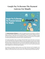Google Pay To Become The Payment Gateway For Shopify