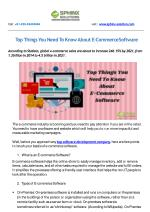 Top Things You Need To Know About E-Commerce Software