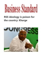 RSS ideology is poison for the country: Kharge