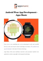 Android Wear App Development - Apps Manic