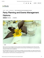 Party Planning and Events Management Diploma - istudy
