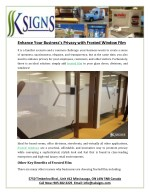 Enhance Your Business's Privacy With Frosted Window Film
